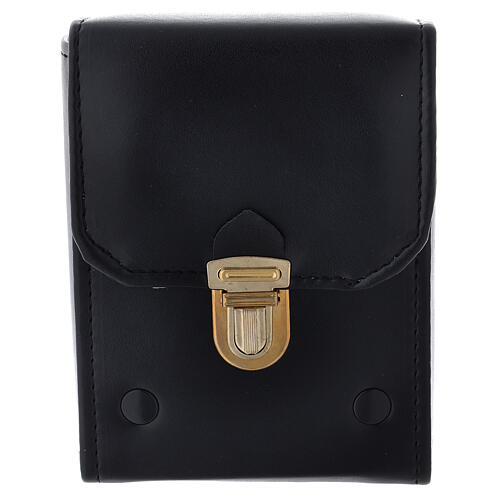 Glass cruets of 125 ml with artificial black leather bag 3