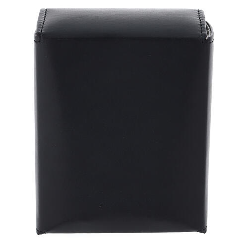 Glass cruets of 125 ml with artificial black leather bag 5