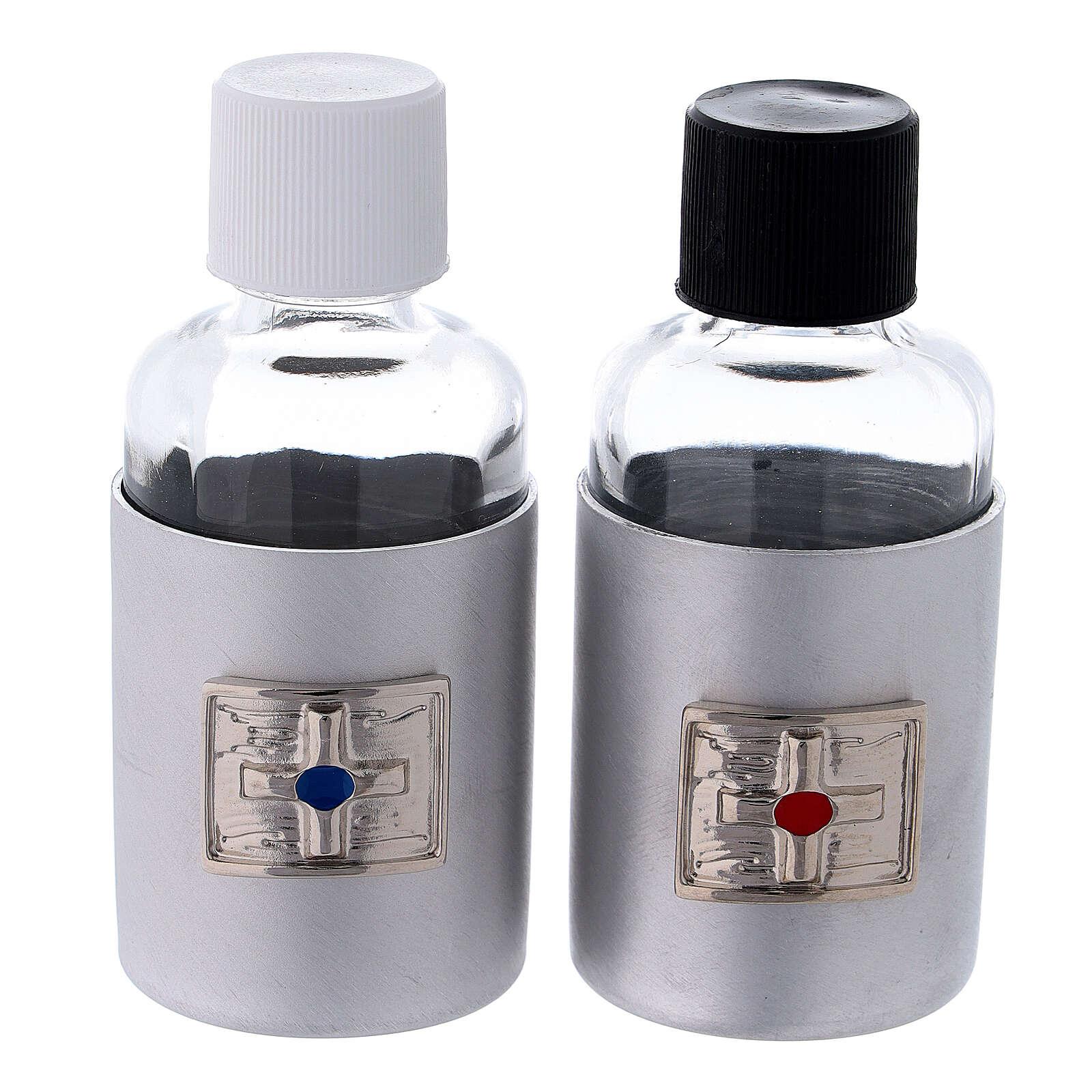 Bottiglie 30 ml in vetro con astuccio in ecopelle nero 4
