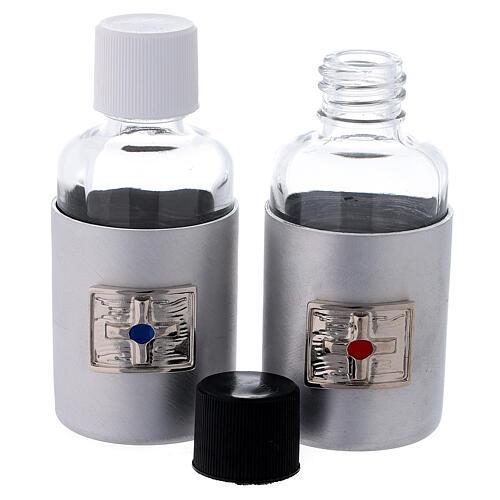 Bottiglie 30 ml in vetro con astuccio in ecopelle nero 3