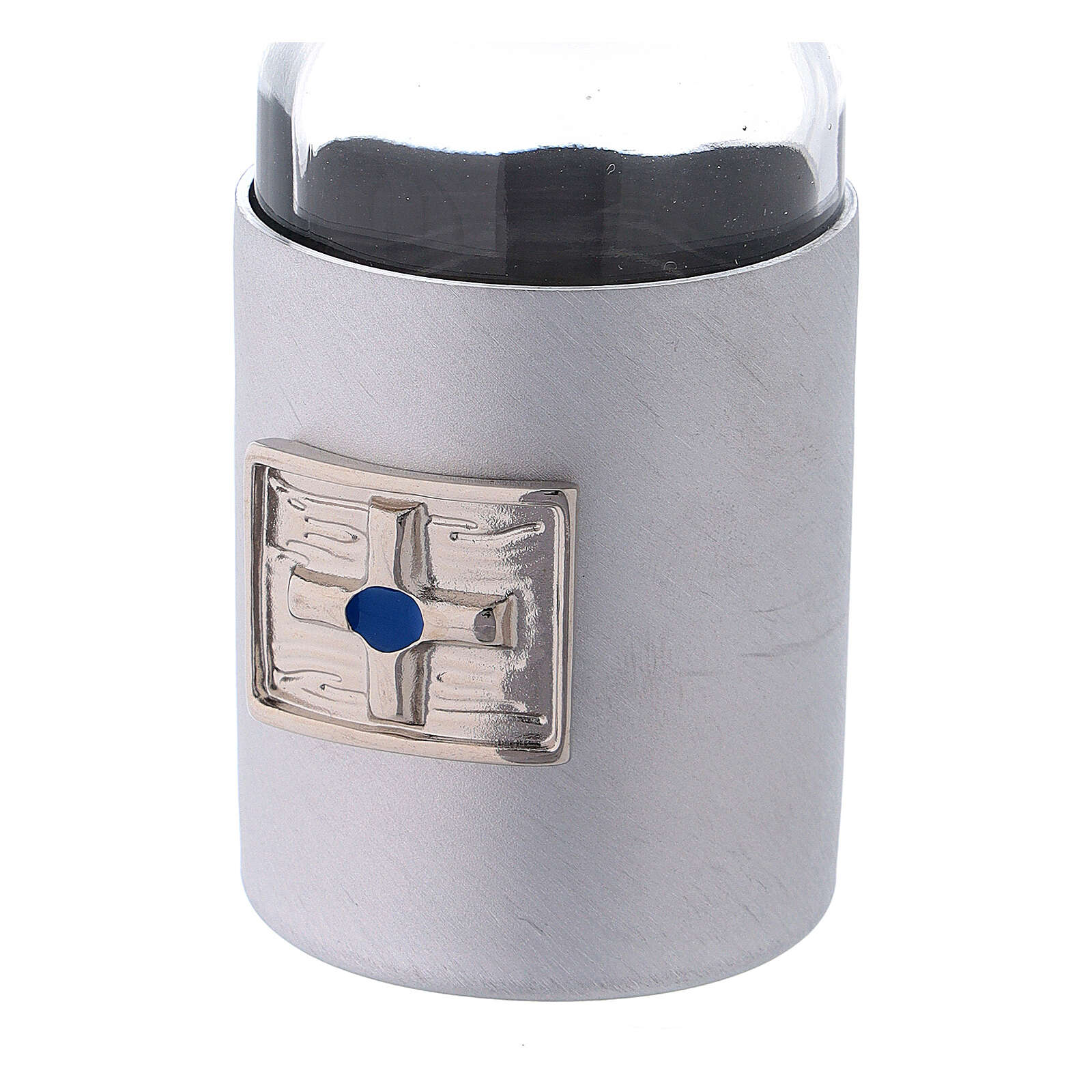 Glass cruets of 30 ml with artificial black leather bag 4