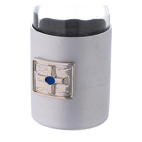 Glass cruets of 30 ml with artificial black leather bag 5