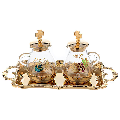 Gold plated and painted cruet set 1
