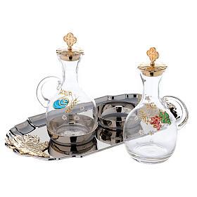 Servicio para manutergio agua y vino con bandeja bicolor s2