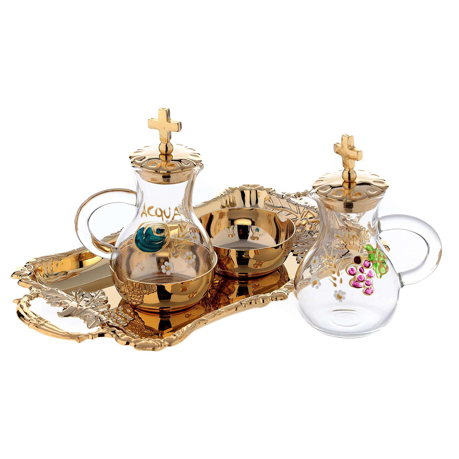 Servicio Vinajeras agua y vino en estilo barroco 4