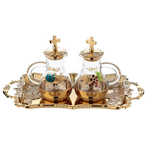 Servicio Vinajeras agua y vino en estilo barroco 1