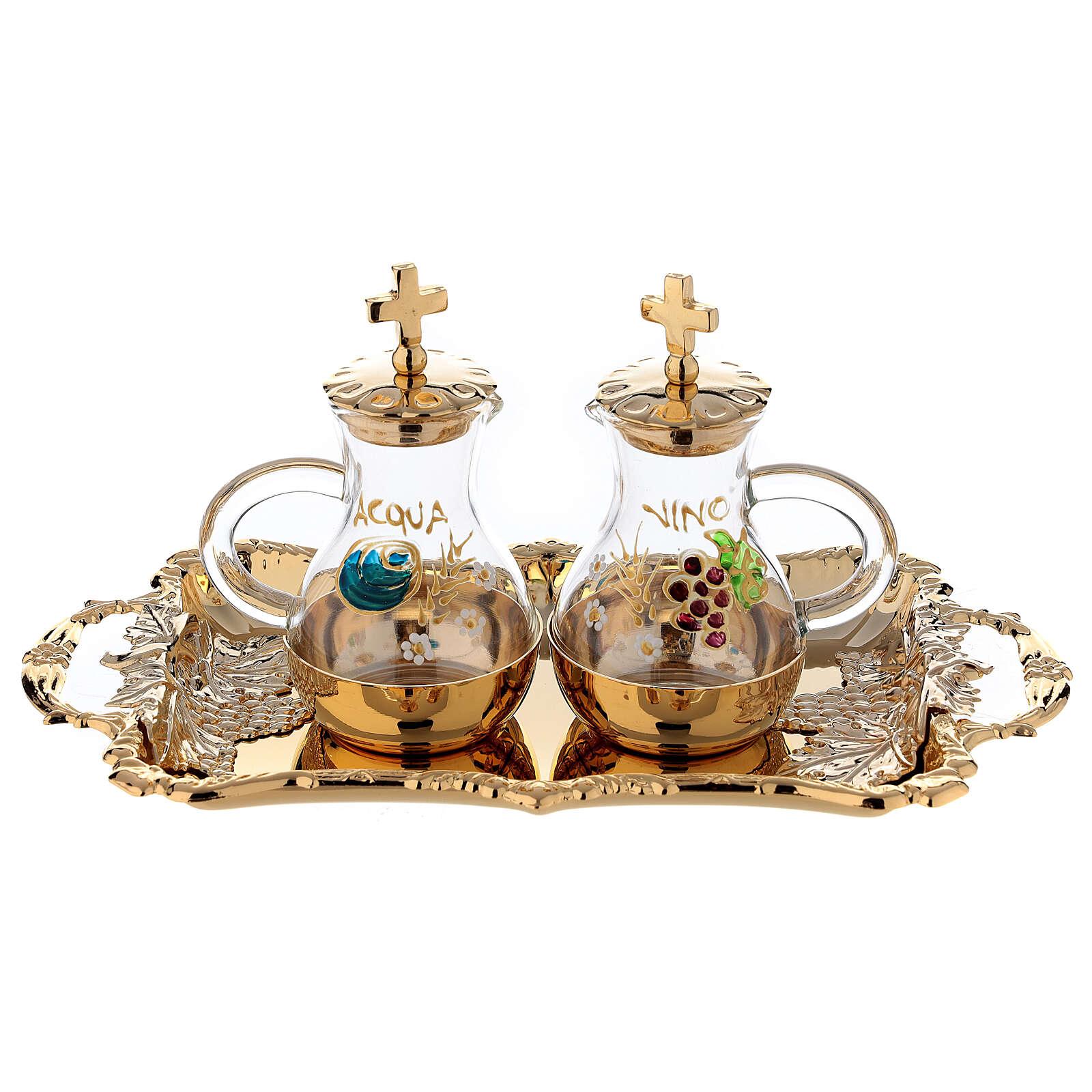 Servizio ampolline acqua e vino in stile barocco 4