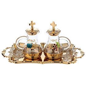Servizio ampolline acqua e vino in stile barocco s1
