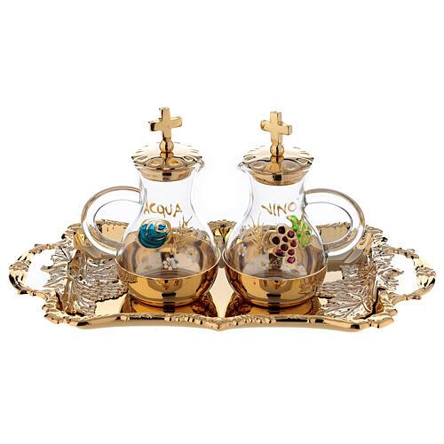 Servizio ampolline acqua e vino in stile barocco 1