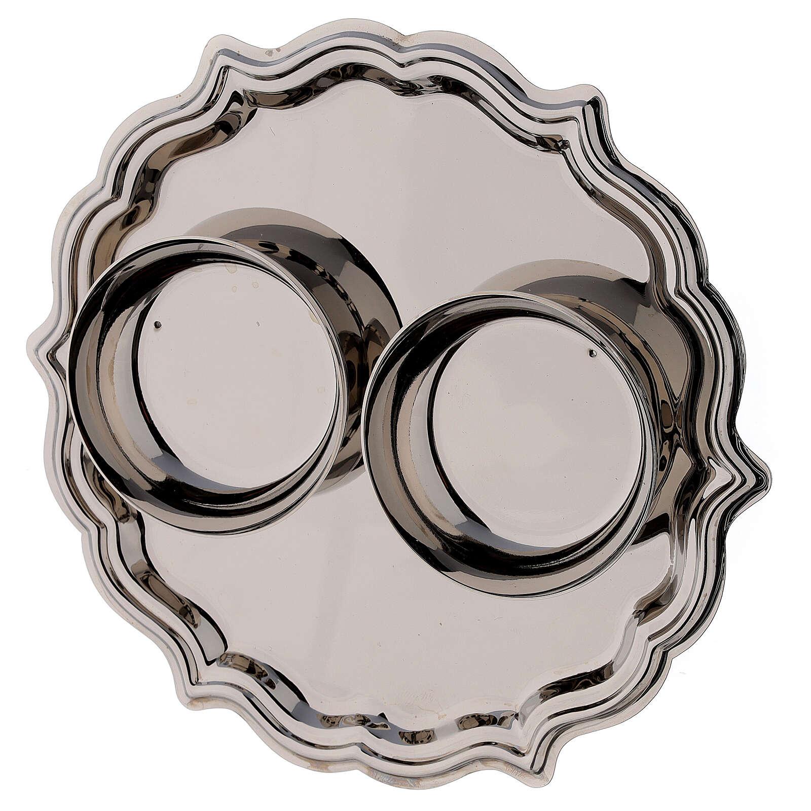 Palermo cruet set in silver plated brass 75 ml 4