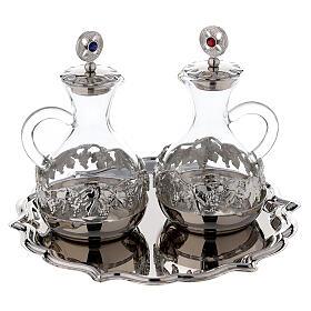 Palermo cruet set in silver plated brass 75 ml s1
