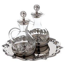 Palermo cruet set in silver plated brass 75 ml s3