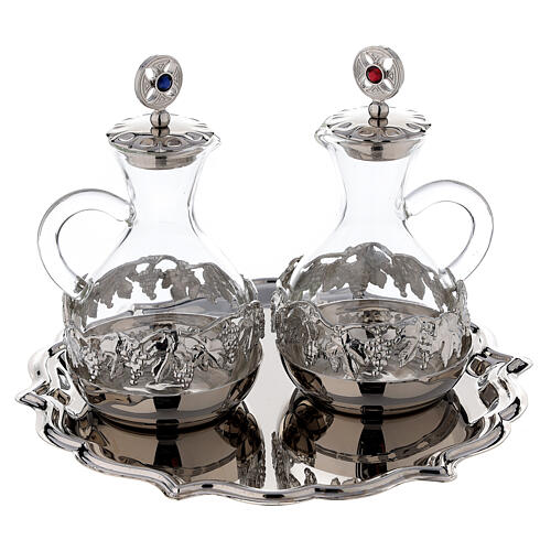 Palermo cruet set in silver plated brass 75 ml 1