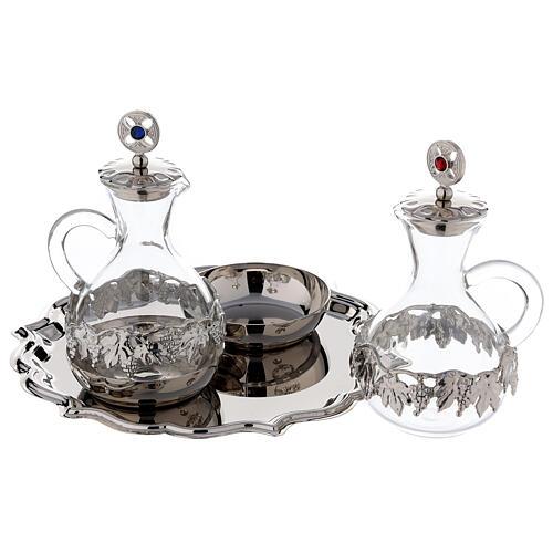 Palermo cruet set in silver plated brass 75 ml 2