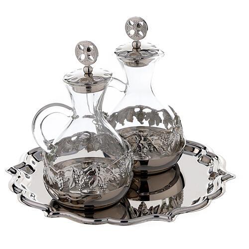 Palermo cruet set in silver plated brass 75 ml 3