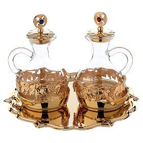 Palermo cruets in 24-karat gold plated brass s1