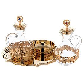 Palermo cruets in 24-karat gold plated brass s2
