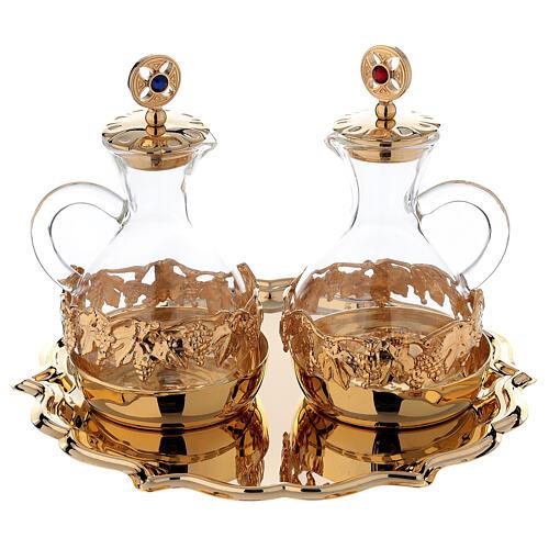 Palermo cruets in 24-karat gold plated brass 1
