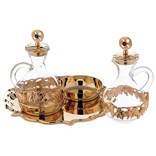 Palermo cruets in 24-karat gold plated brass 2