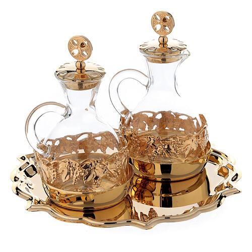 Palermo cruets in 24-karat gold plated brass 3