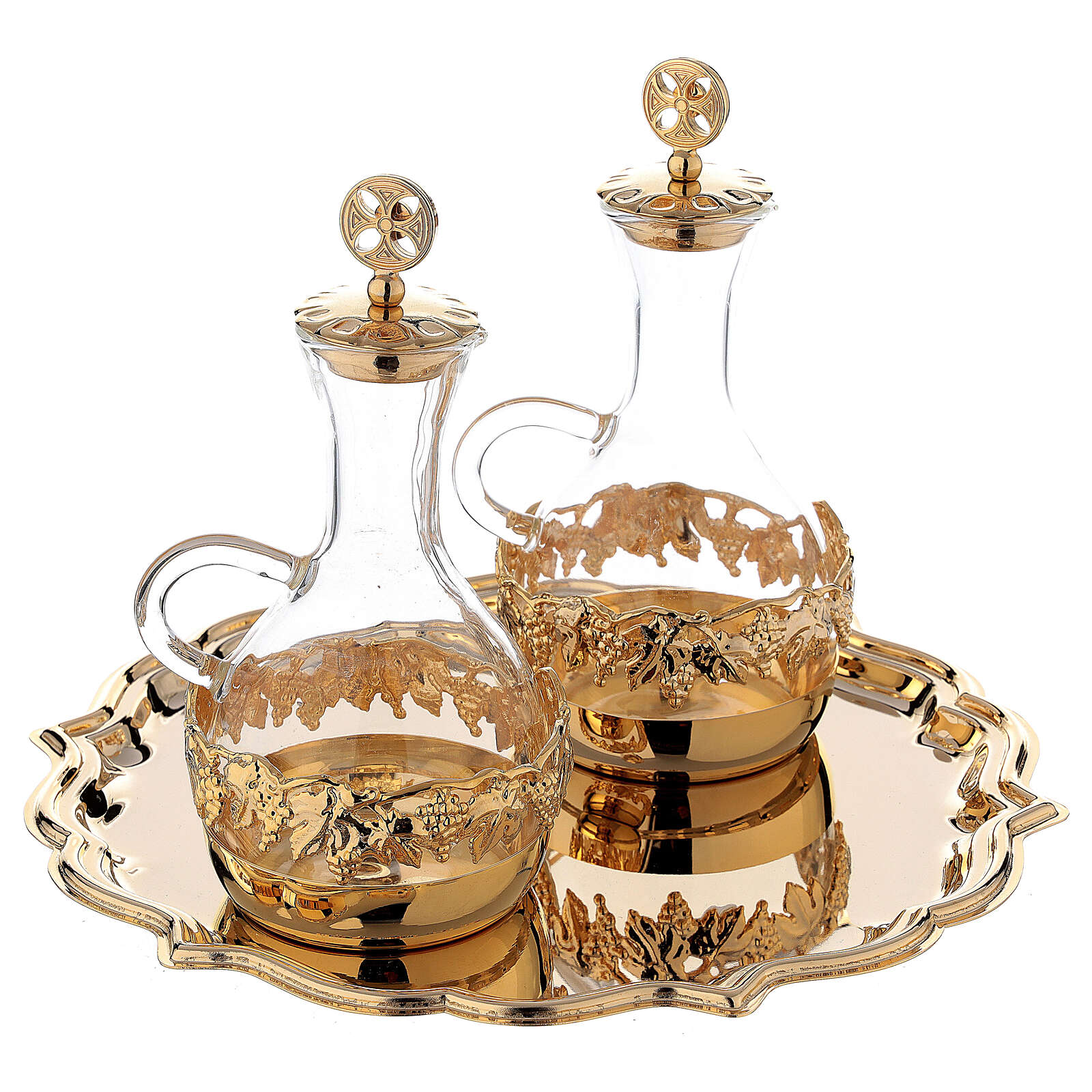 Venise cruet set 200 ml 24-karat gold plated brass 4