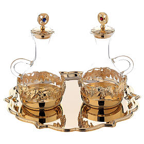Venise cruet set 200 ml 24-karat gold plated brass s1