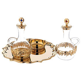 Venise cruet set 200 ml 24-karat gold plated brass s2