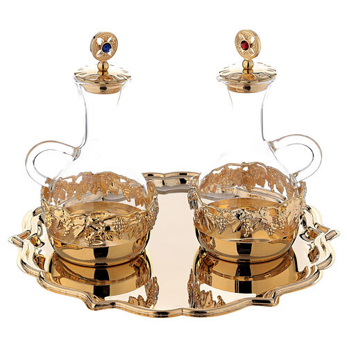 Venise cruet set 200 ml 24-karat gold plated brass 1