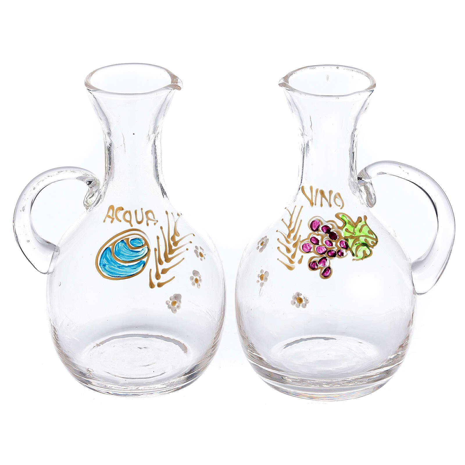 Set ampolline vetro e ottone nichelato Venezia con ghiera ml 200 4