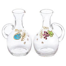 Set ampolline vetro e ottone nichelato Venezia con ghiera ml 200 s1