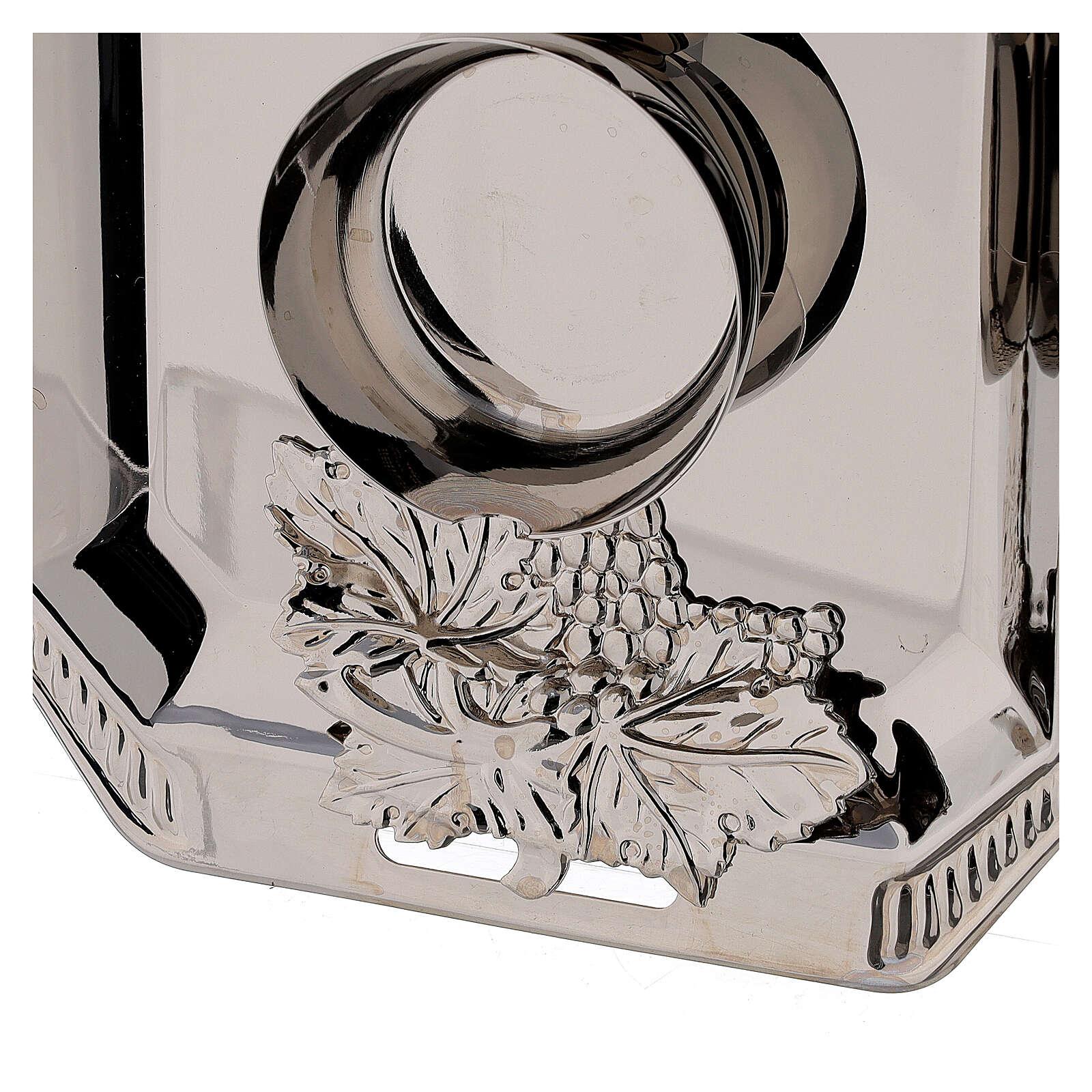 Ampolline vetro Como dipinte mano ml 160 vassoio ottone tono argentato  4