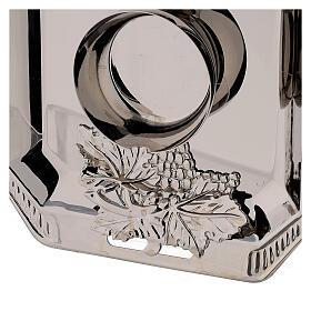 Ampolline vetro Como dipinte mano ml 160 vassoio ottone tono argentato  s3