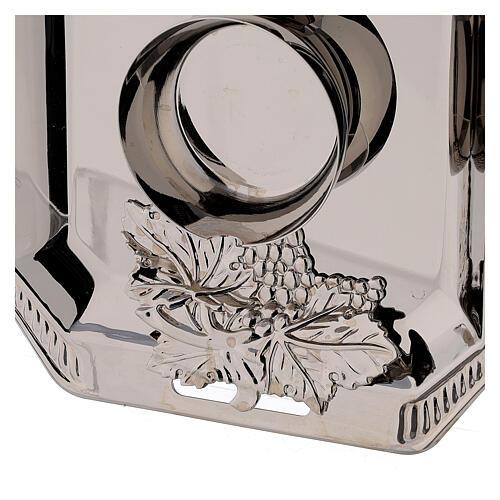 Ampolline vetro Como dipinte mano ml 160 vassoio ottone tono argentato  3