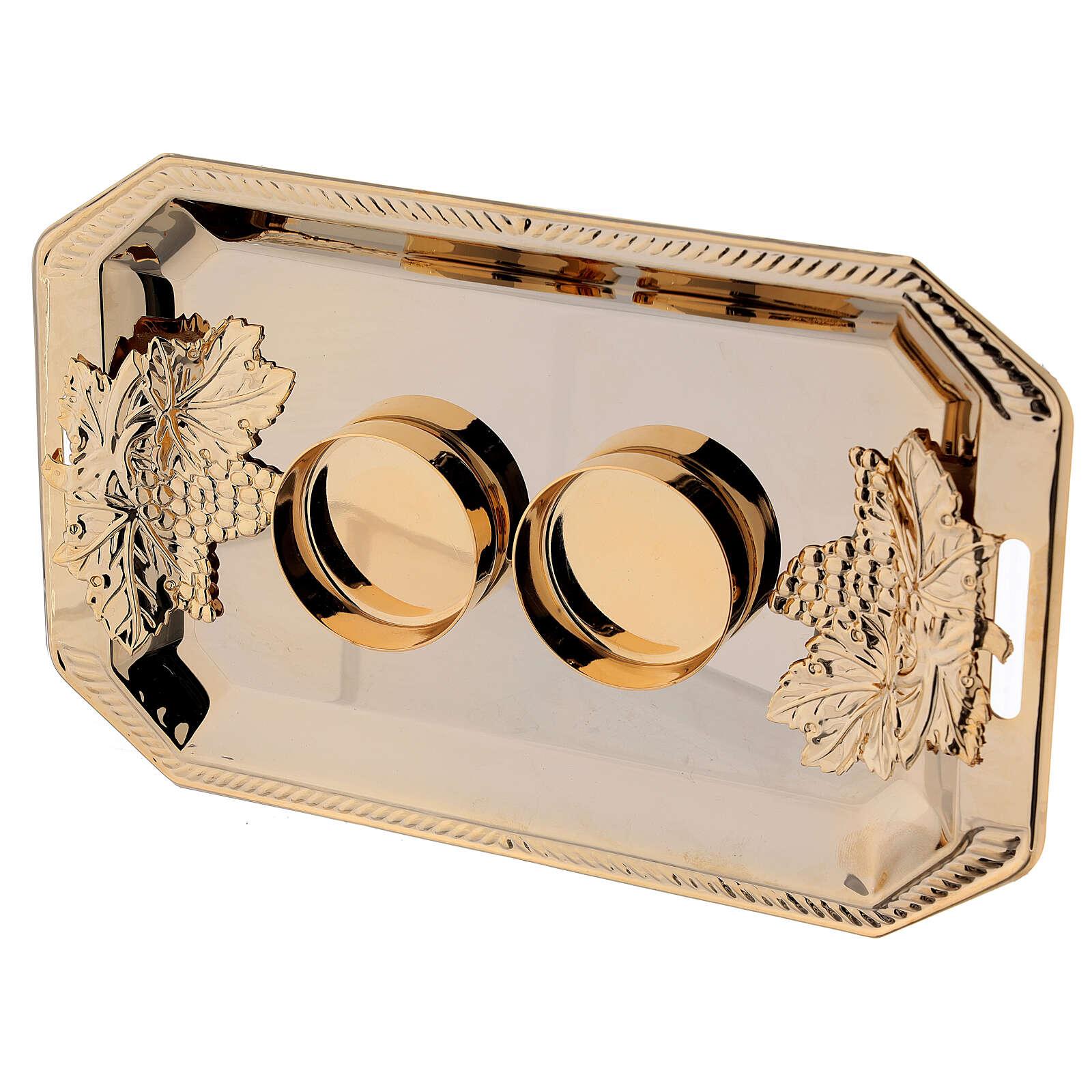 Servizio ampolle Fiesole ottone dorato decori a mano ml 130 4