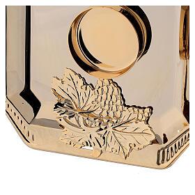 Servizio ampolle Fiesole ottone dorato decori a mano ml 130 s4
