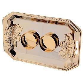 Servizio ampolle Fiesole ottone dorato decori a mano ml 130 s5
