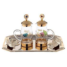 Fiesole cruet set gold plated brass and handmade decorations 130 ml s1