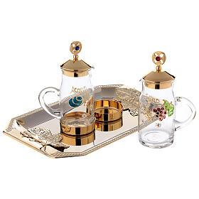 Fiesole cruet set gold plated brass and handmade decorations 130 ml s2