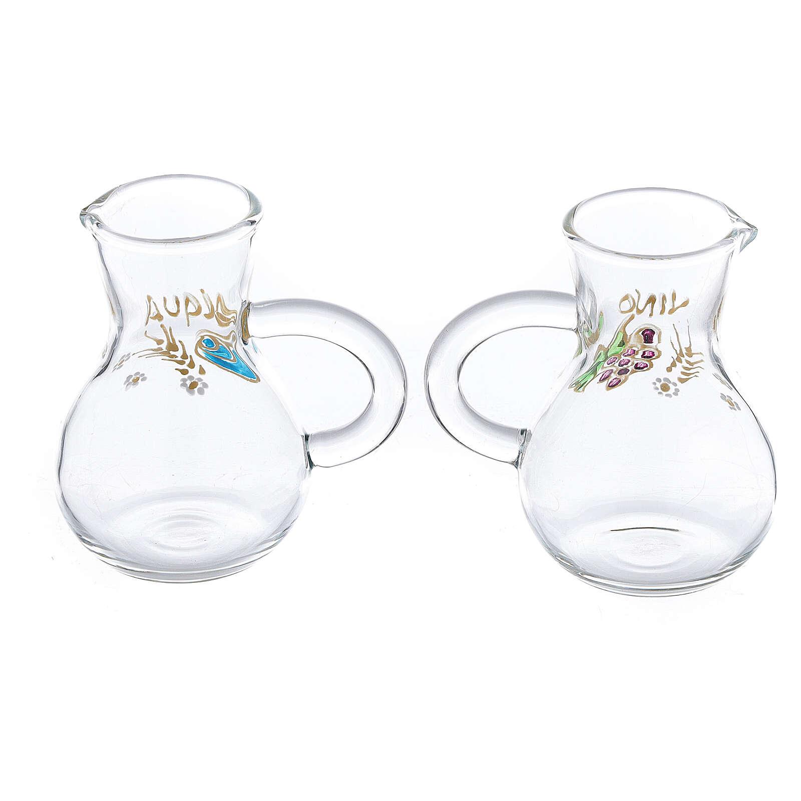 Set vinajeras vidrio Parma pintadas a mano 75 ml 4
