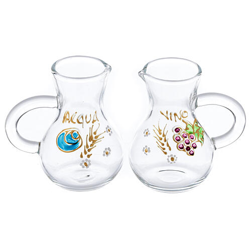 Set vinajeras vidrio Parma pintadas a mano 75 ml 1