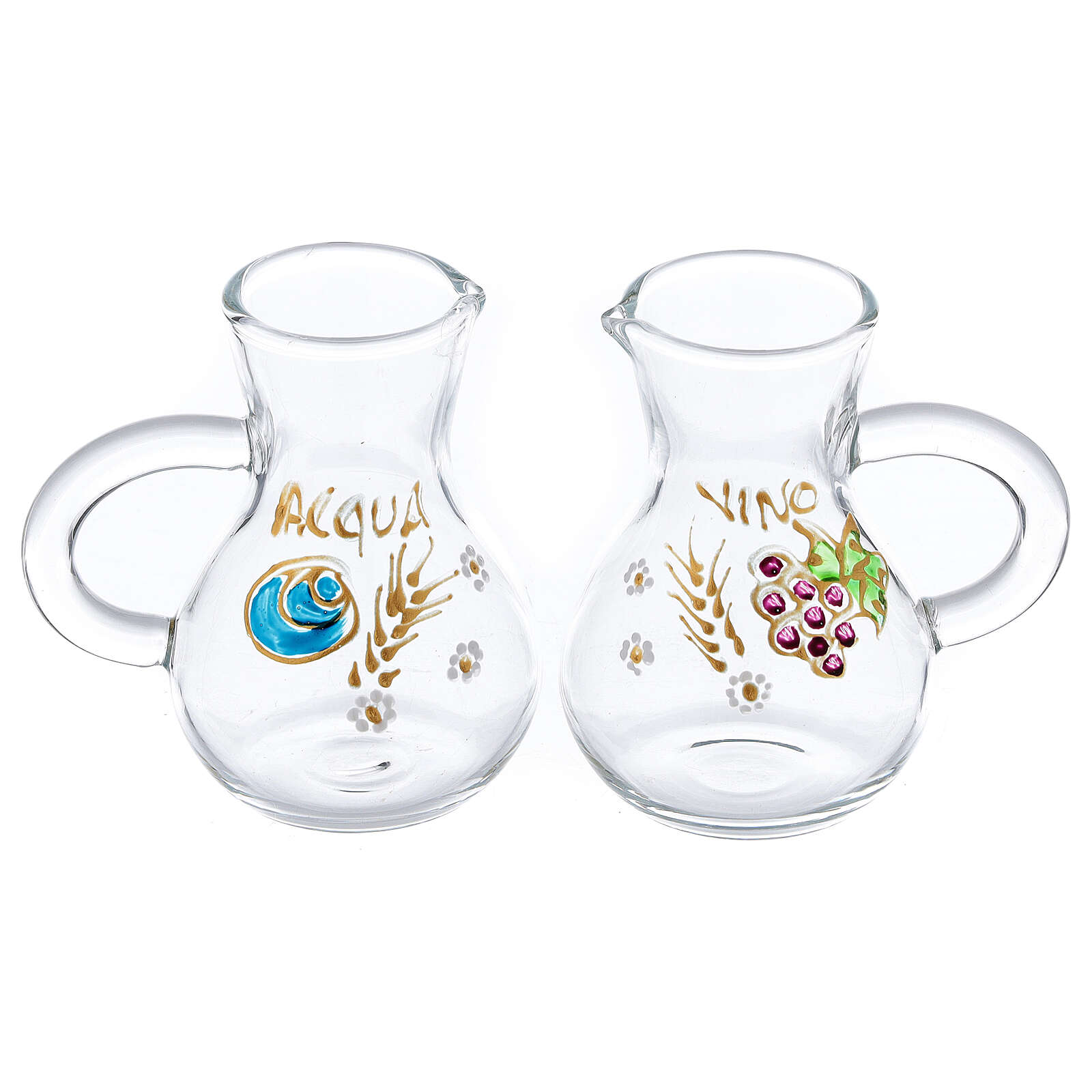 Parma glass cruets painted by hand 75 ml 4