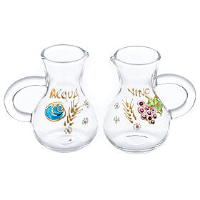 Parma glass cruets painted by hand 75 ml s1