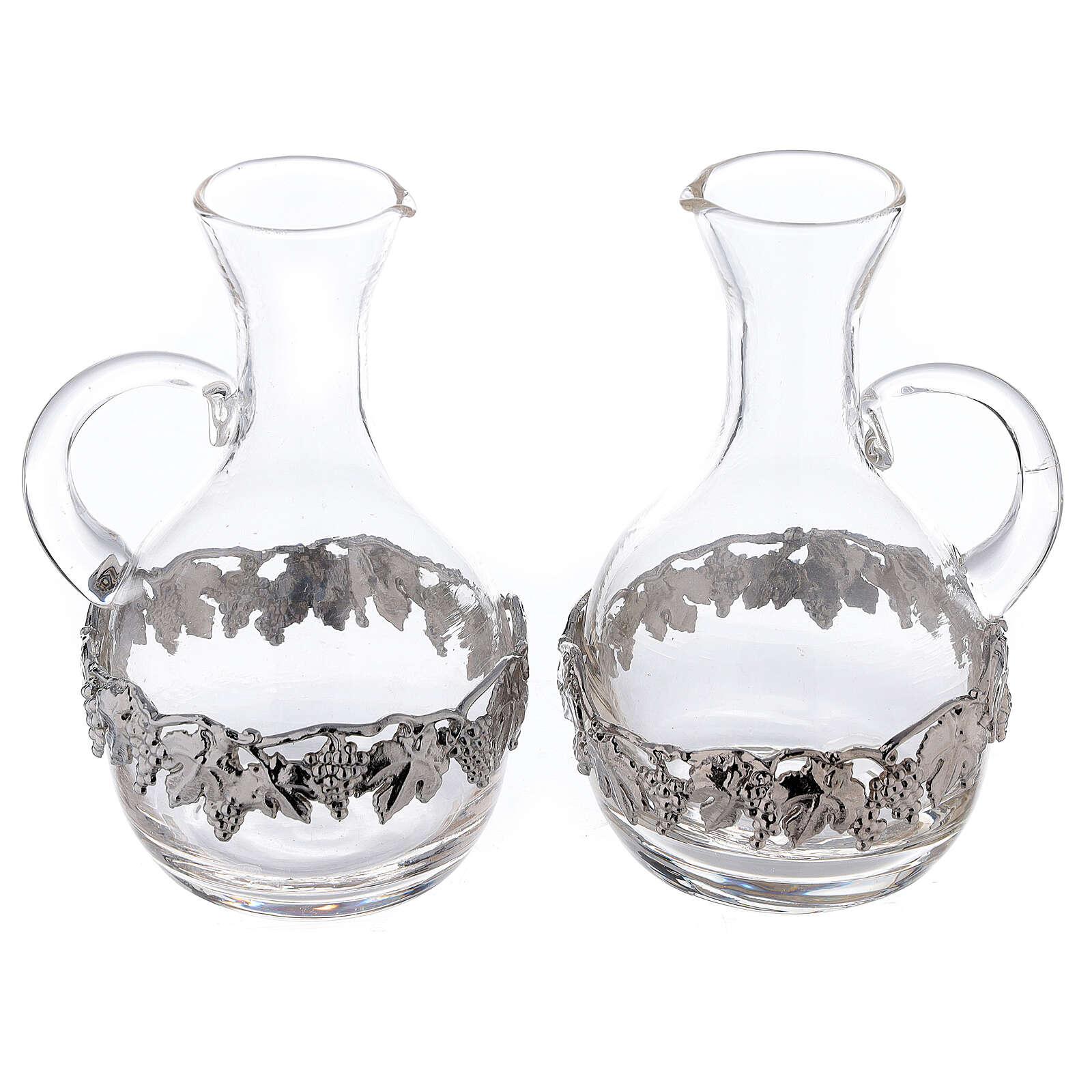 Pareja vinajeras vidrio y latón Venecia 200 ml 4