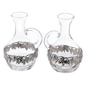 Pareja vinajeras vidrio y latón Venecia 200 ml s2