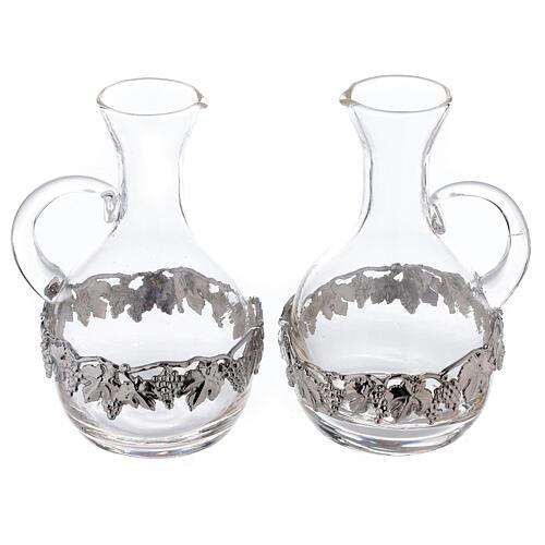 Pareja vinajeras vidrio y latón Venecia 200 ml 1