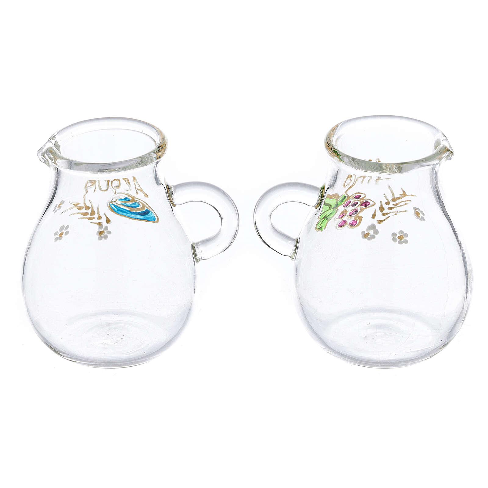 Vinajeras de vidrio soplado agua y vino Bologna 110 ml 4