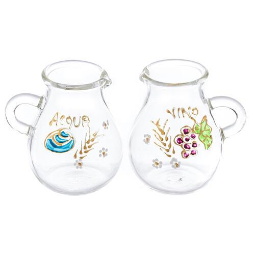 Vinajeras de vidrio soplado agua y vino Bologna 110 ml 1