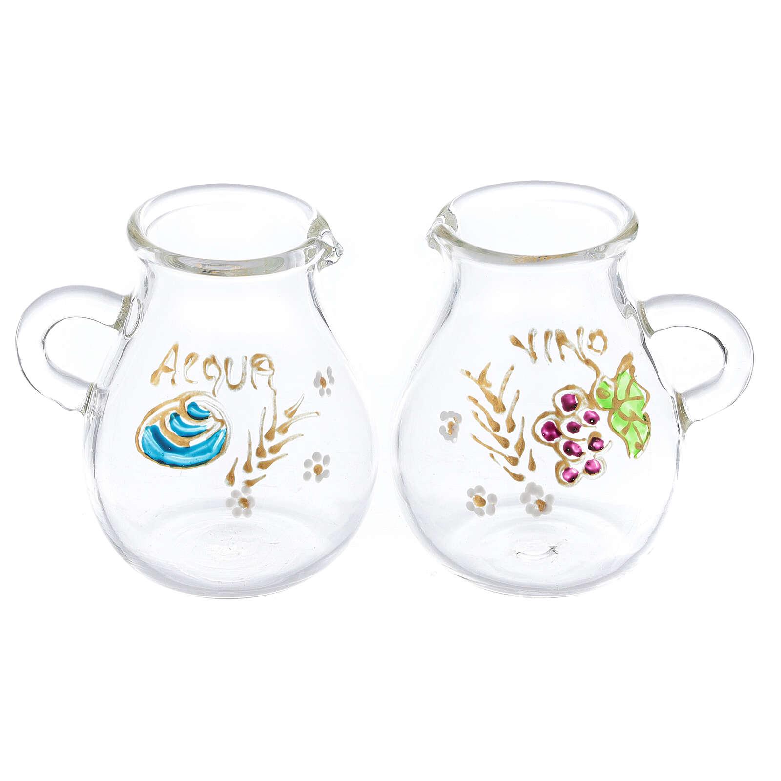 Ampolline in vetro soffiato acqua e vino Bologna 110 ml 4