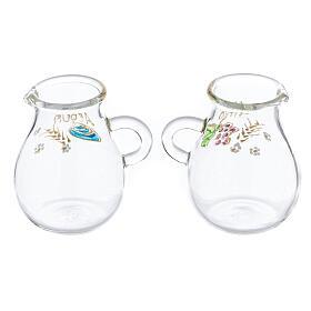 Ampolline in vetro soffiato acqua e vino Bologna 110 ml s2