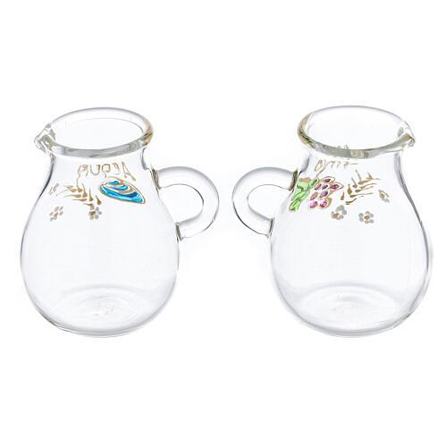 Ampolline in vetro soffiato acqua e vino Bologna 110 ml 2